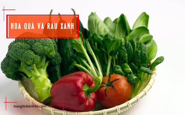 bệnh trĩ nên ăn rau xanh