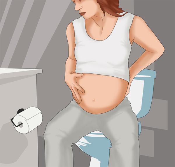 Mang thai dễ bị táo bón tại sao?