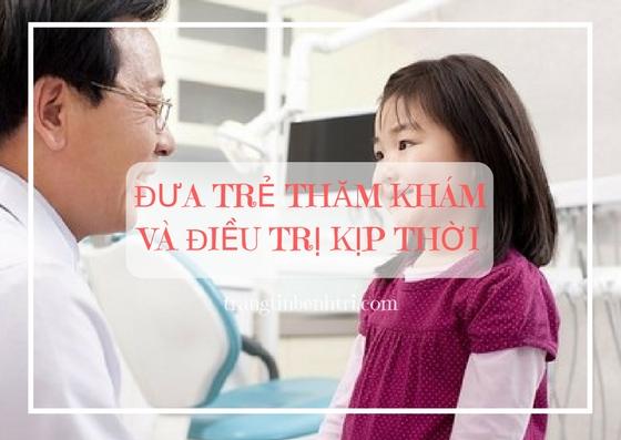 Đưa trẻ đi thăm khám bệnh trĩ ngay khi nghi ngờ