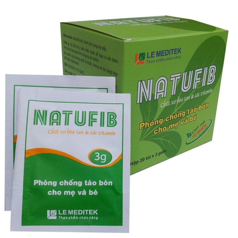 Thực phẩm chức năng phòng và trị táo bón Natufib