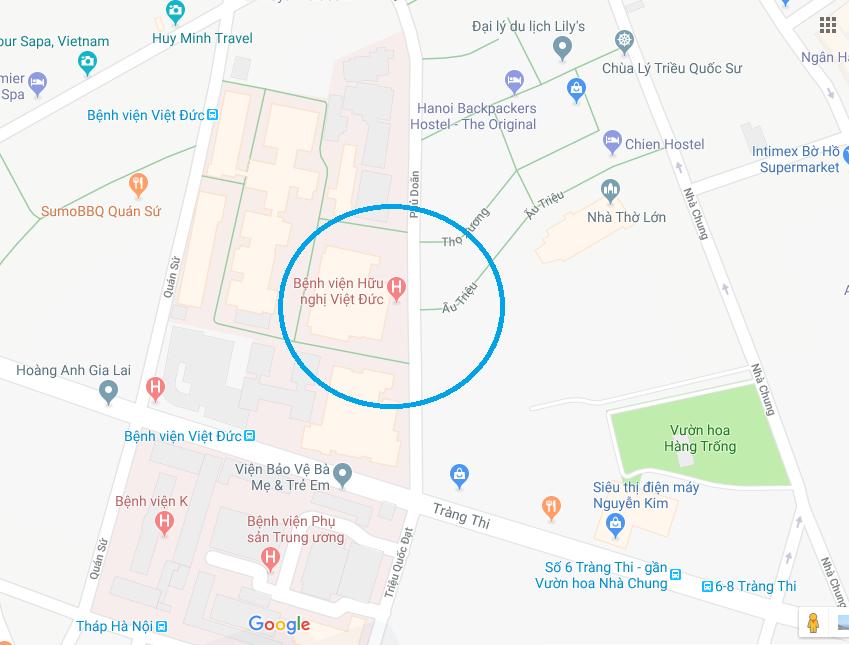 Bệnh viện Việt Đức ở đâu